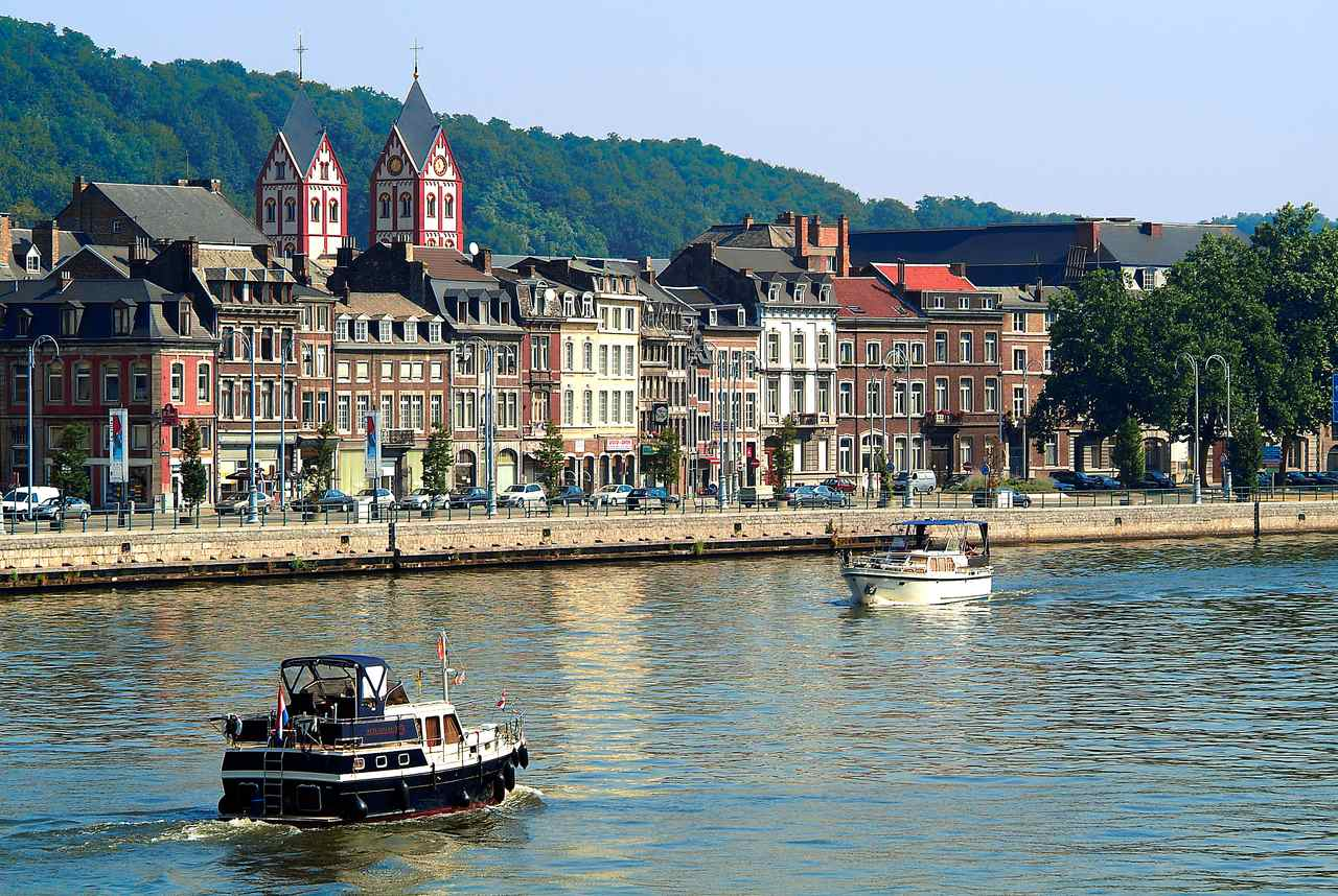 The beautiful buildings-which run along the river in Liège c.of-Marc-Verpoorten-Liege-