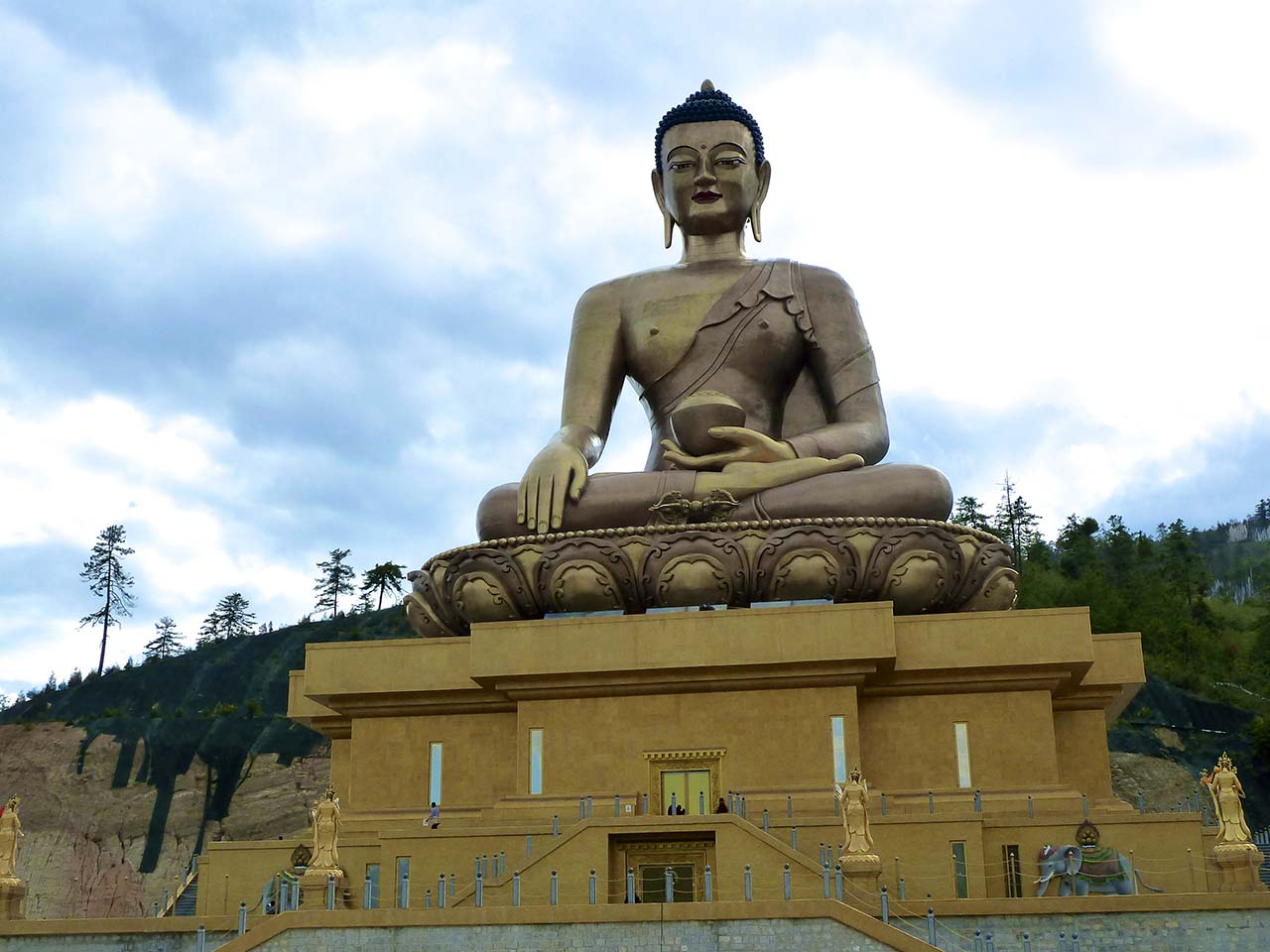The colossal Dordena Buddha in Thimphu