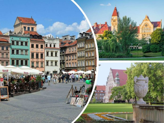 Three Polish Cities: Poznan, Warsaw and Wroclaw
