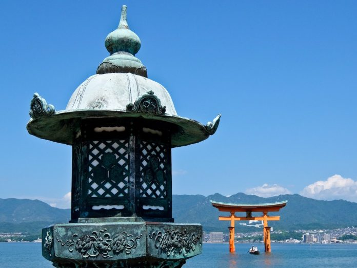 Torii Gate with boat
