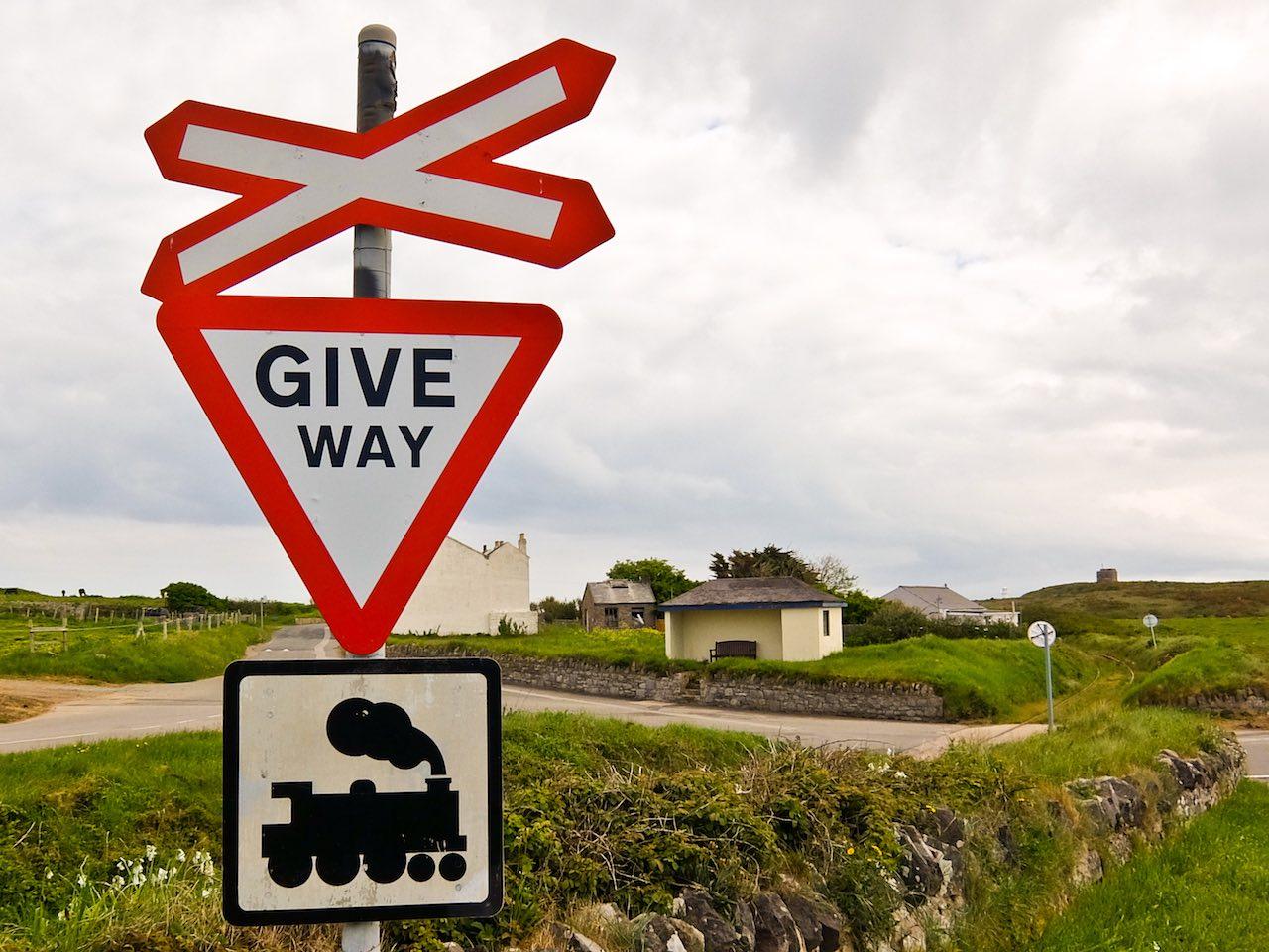 Train Sign Alderney