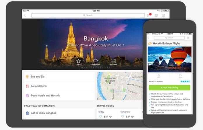 tripo smart phone travel app