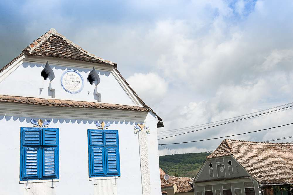 Typical Saxon buildings in a typical Saxon village