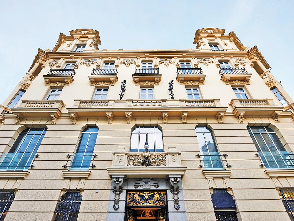 A former palace - Urso hotel facade.