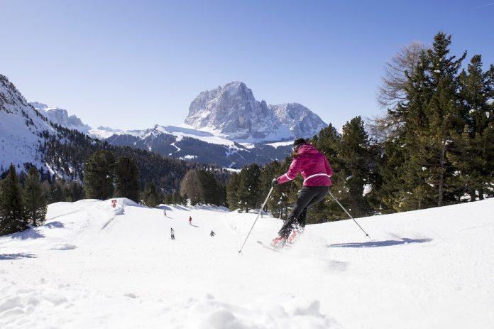 Val Gardena skier