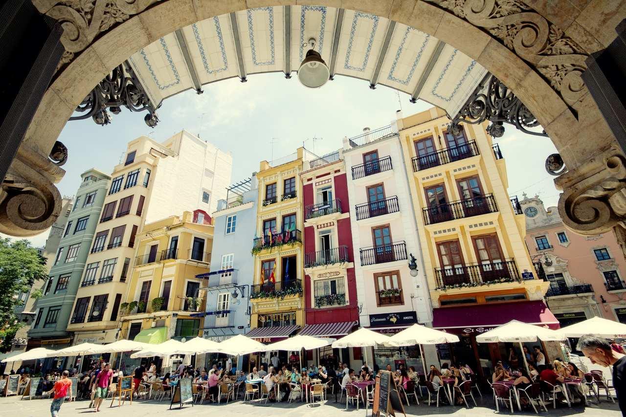 Valencia, shady square