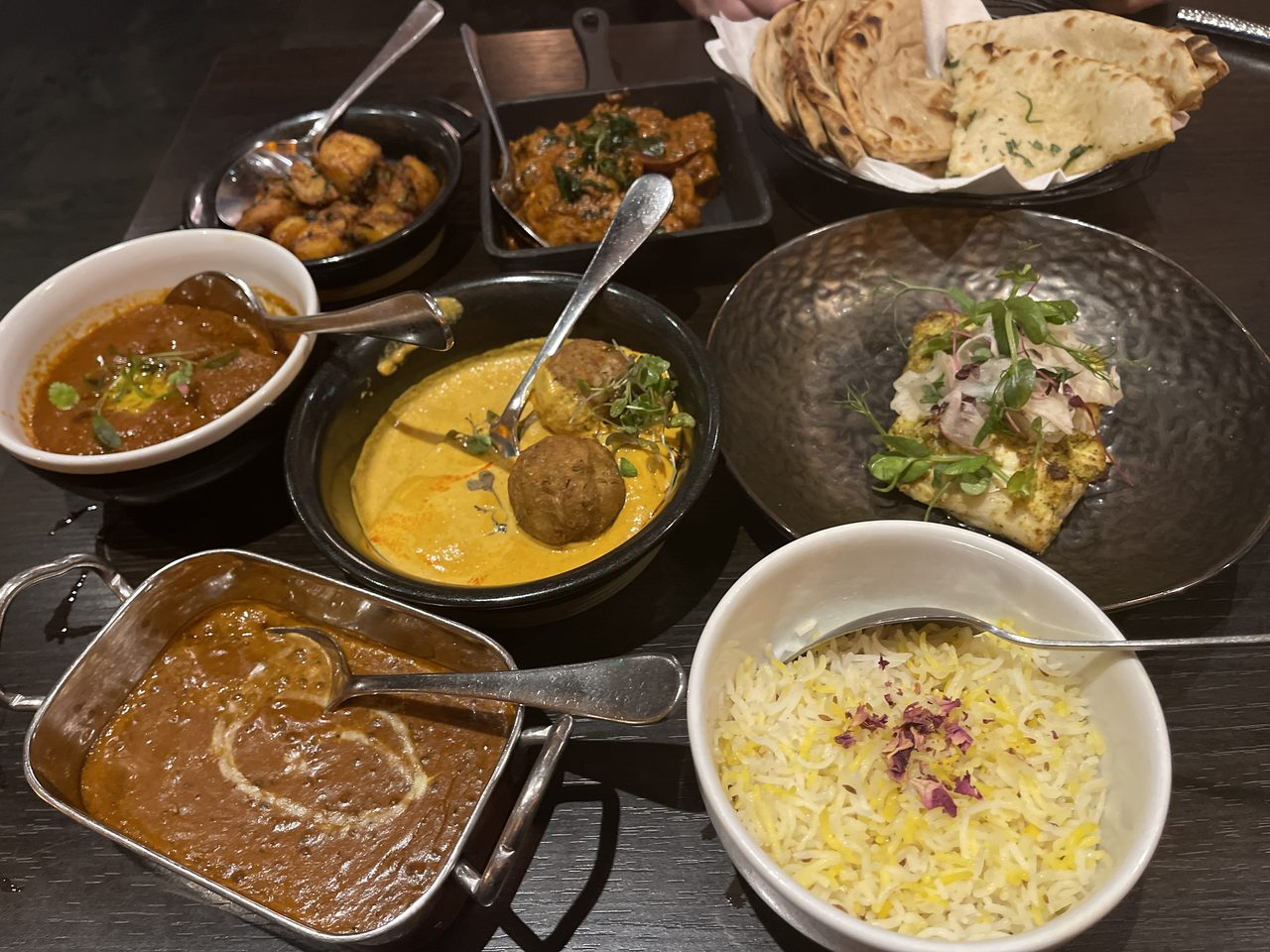 Dishes from the Grand Trunk Road menu
