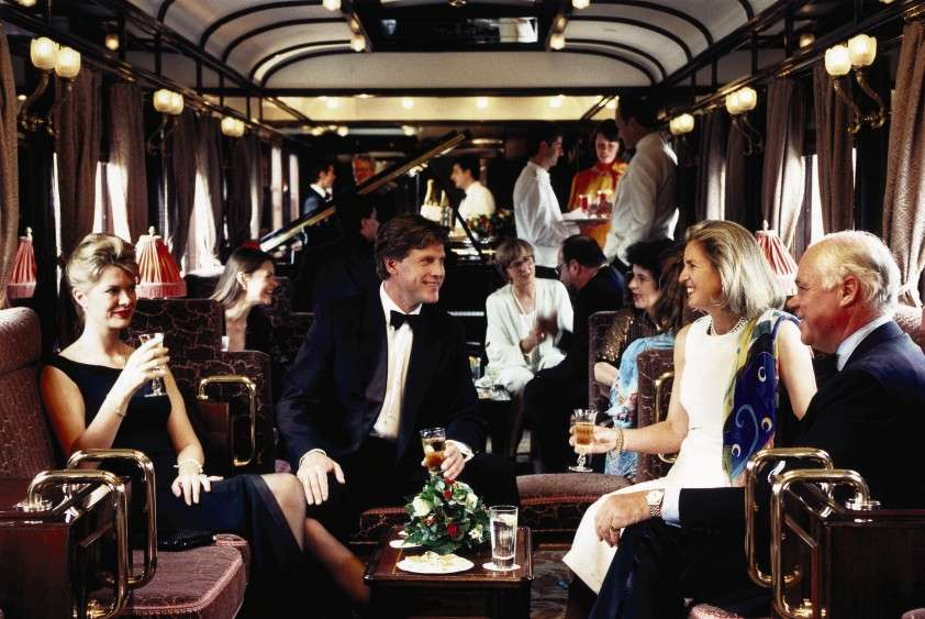 Venice Simplon-Orient-Express - champagne in the Lounge Bar