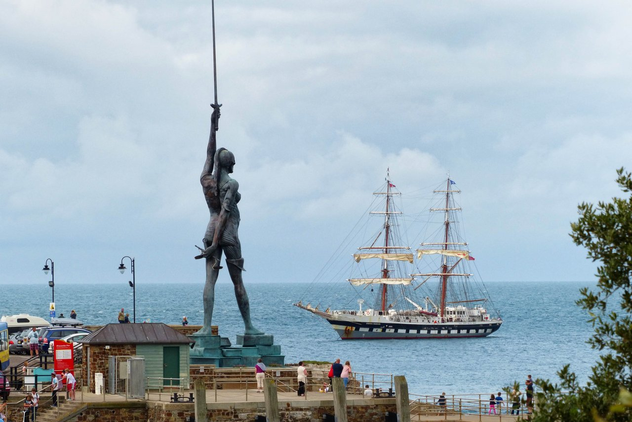 Verity statue on Ilfracombe harbour