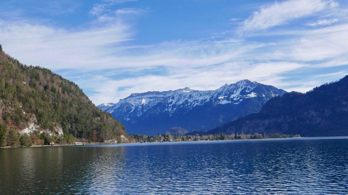 View from boat ride Lake Thun