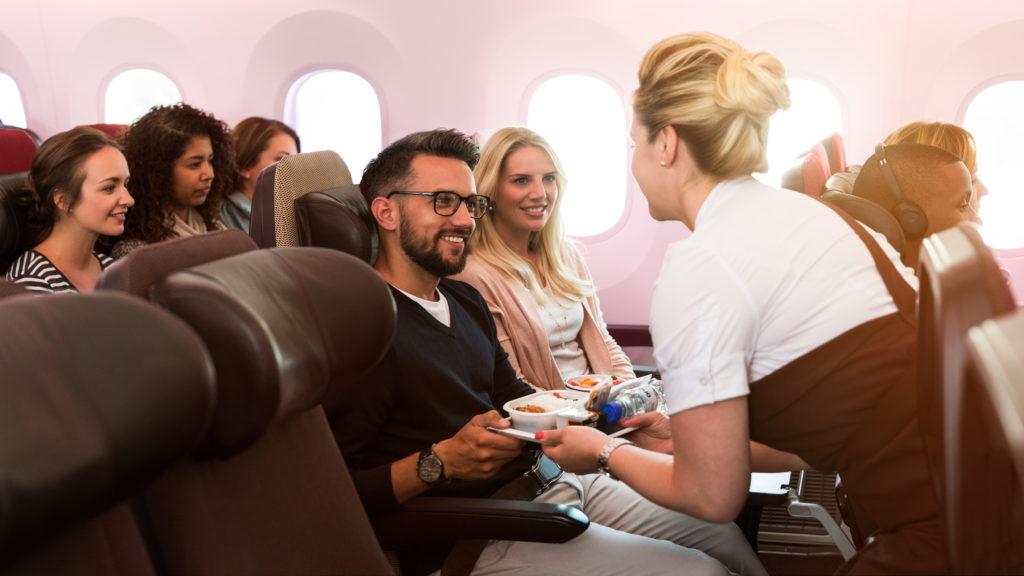 Virgin Atlantic cabin: economy delight