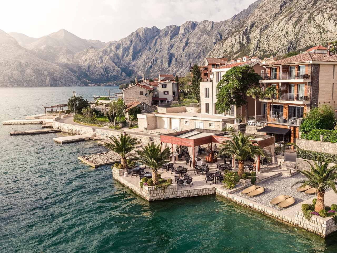 Waterfront location on Kotor Bay