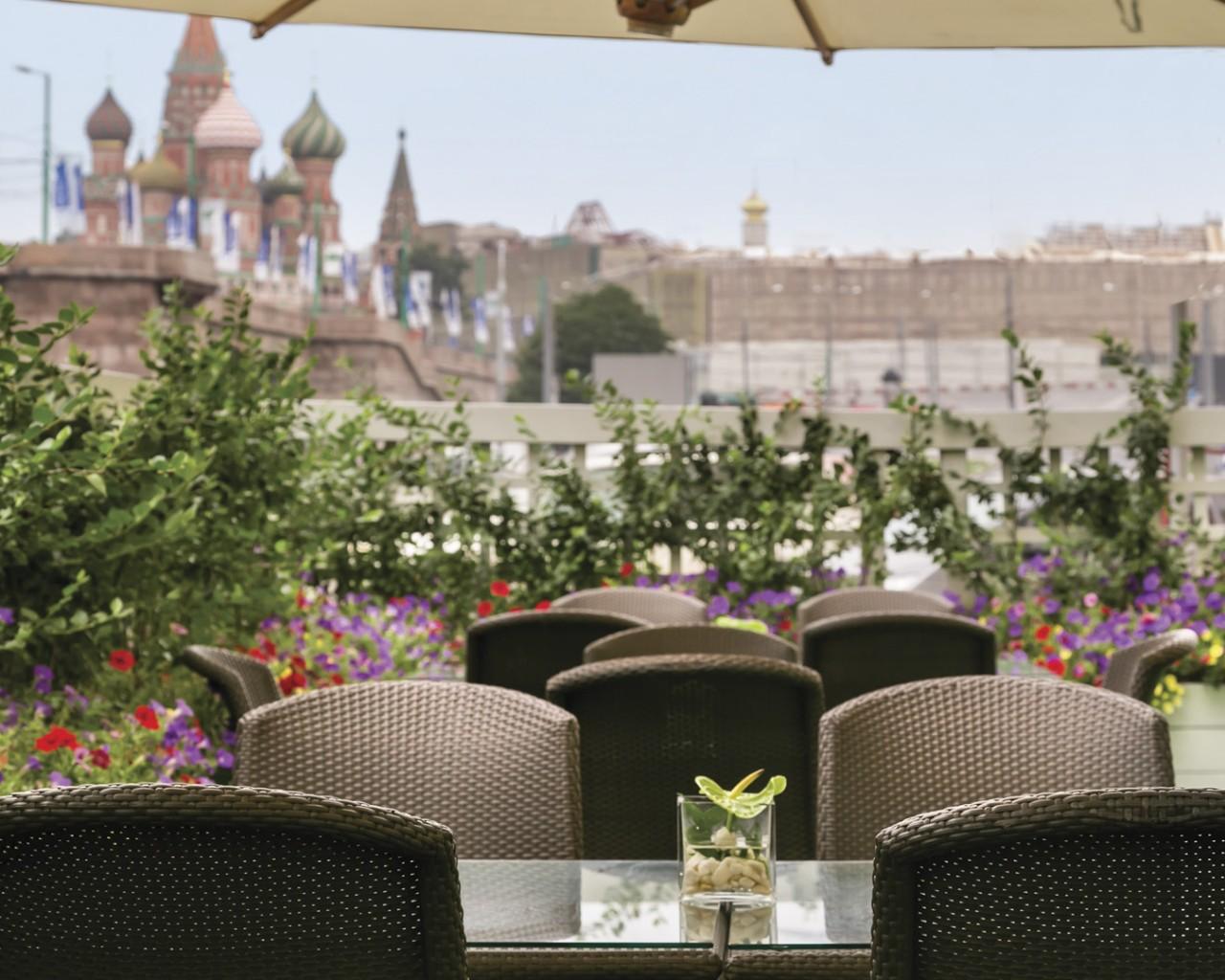 Summer Terrace at Hotel Baltschug Kempinski Moscow