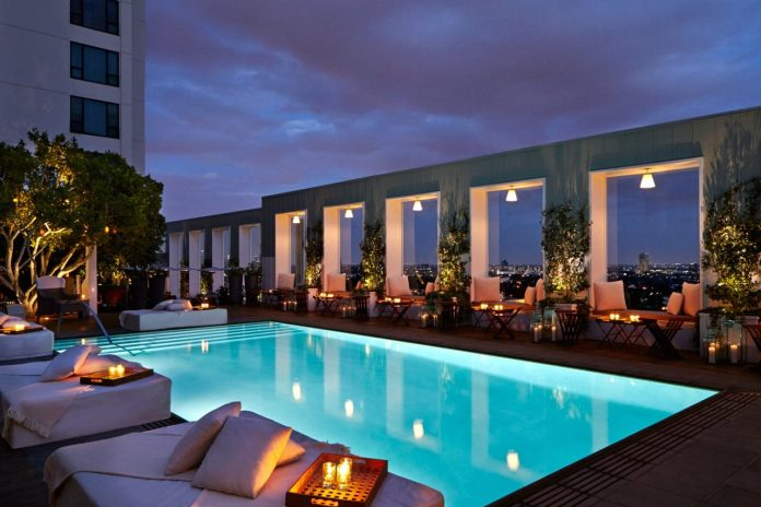 West Hollywood - Skybar at sunset