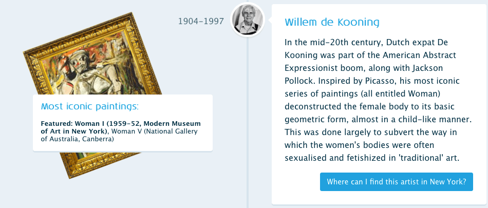 Willem de Kooning - History of art in New York