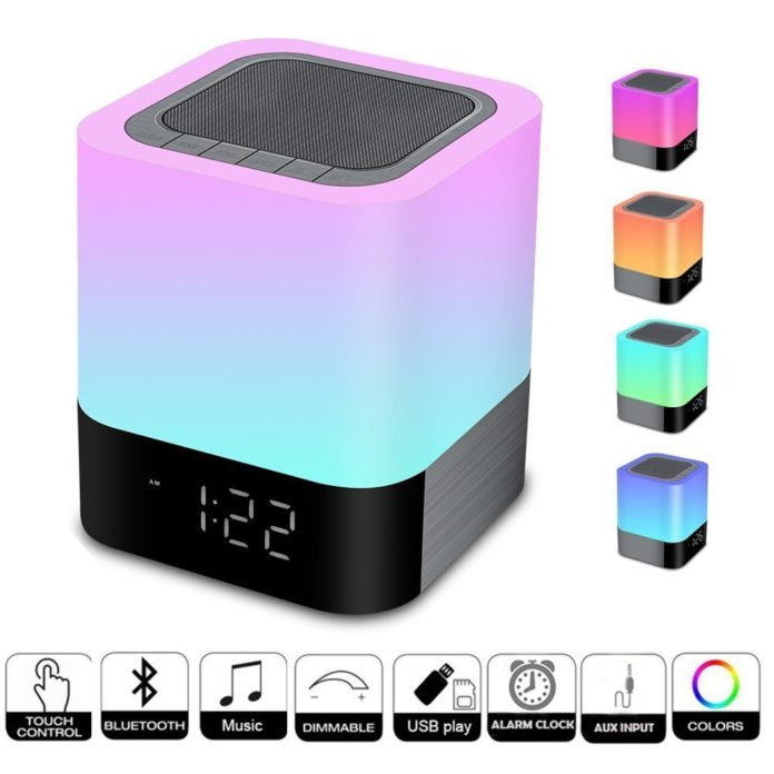 Touch Control Bedside Lamp with Wireless Bluetooth Speaker