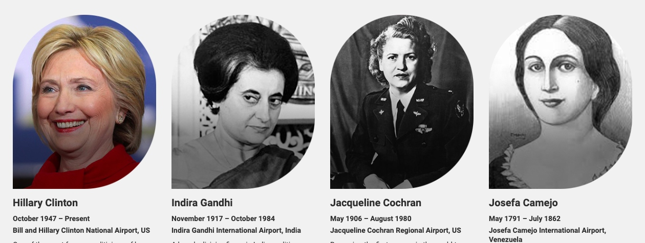 women who have airports named after them