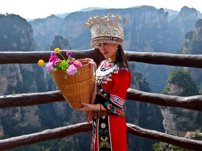 Yuanjiajie Flower Girl