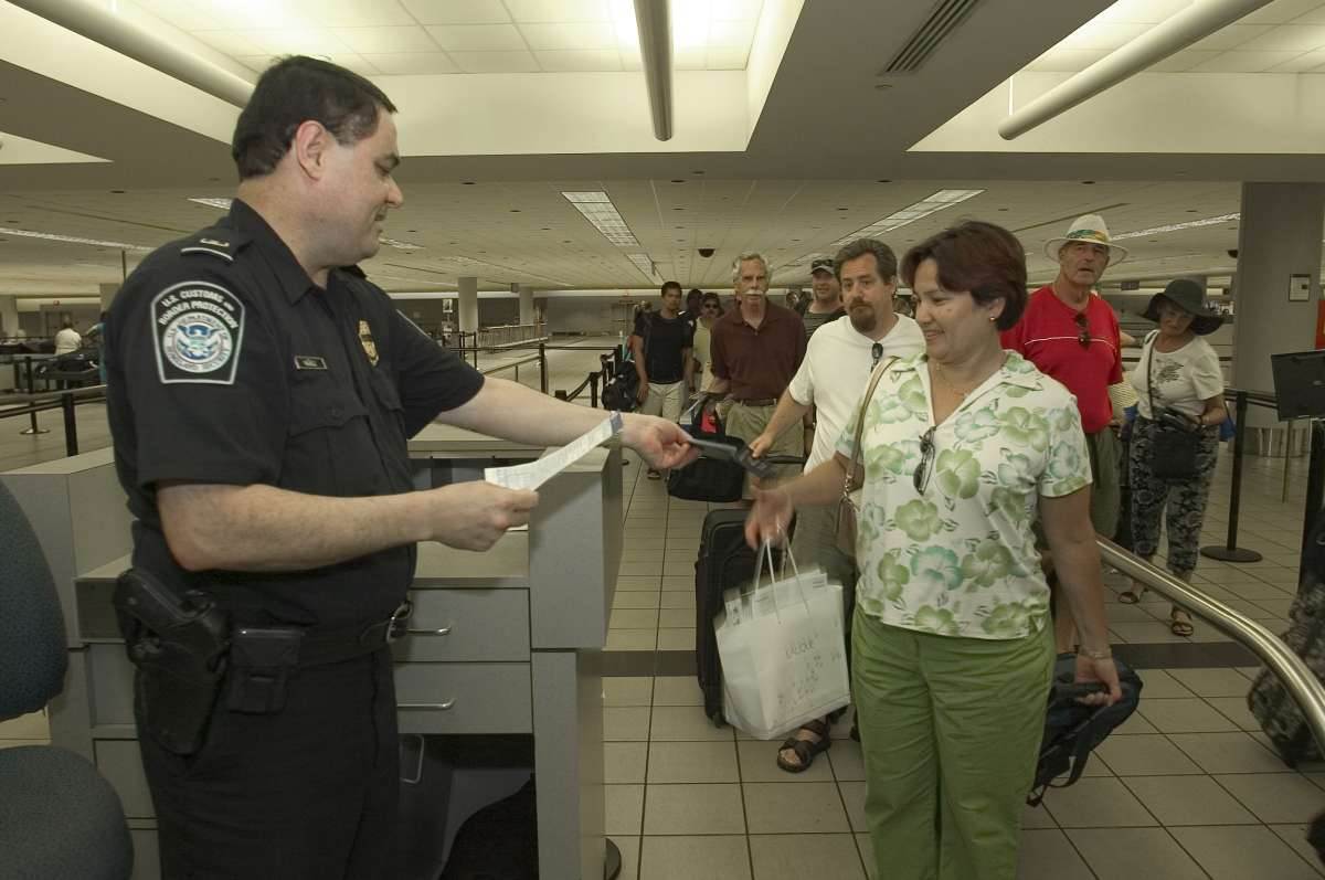 Passenger screening at U.S. airport