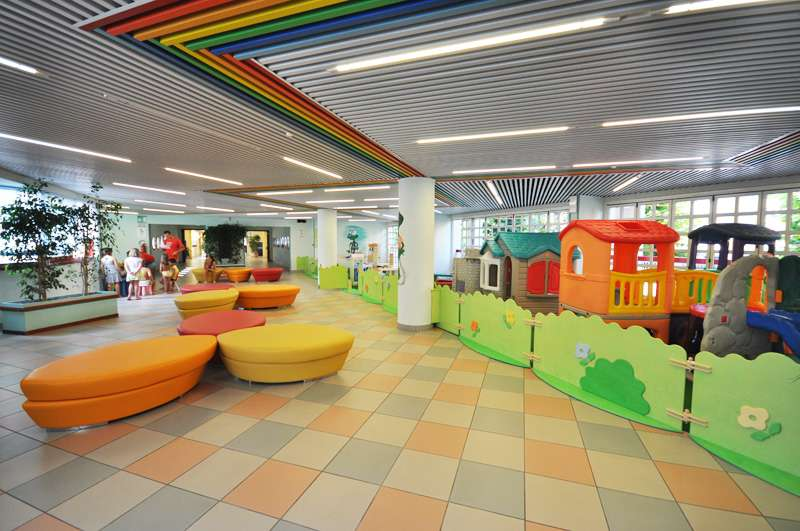 Imperial ApartHotel: reception and playground area