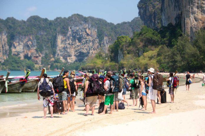 Backpackers in Krabi, Thailand
