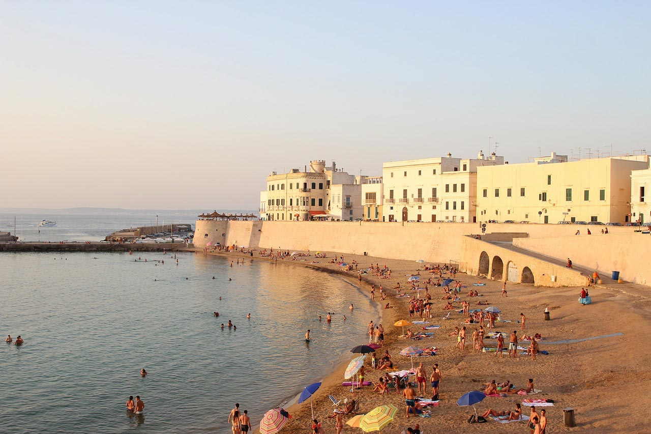 Beach in Galipoli, Puglia, Italy