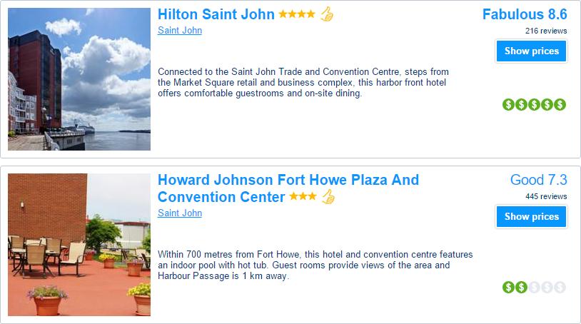 New Brunswick hotels