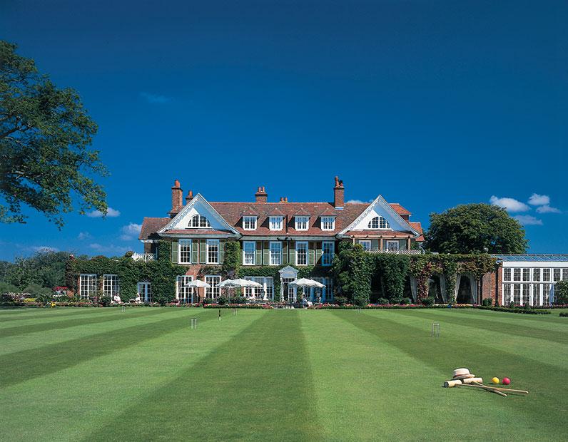 Chewton Glen croquet lawn