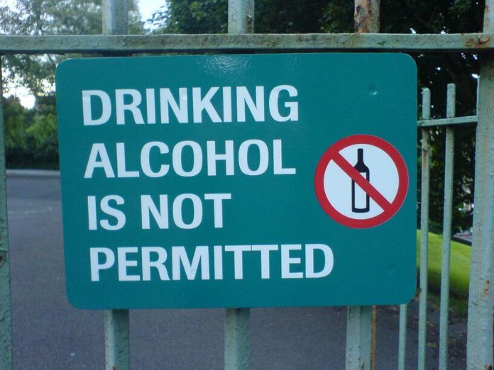 drinking alcohol is not permitted