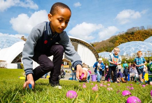 Easter egg hunt at the Eden Project
