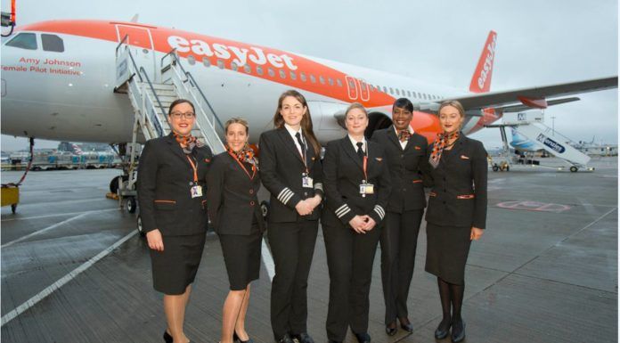 easyJet women's day flight