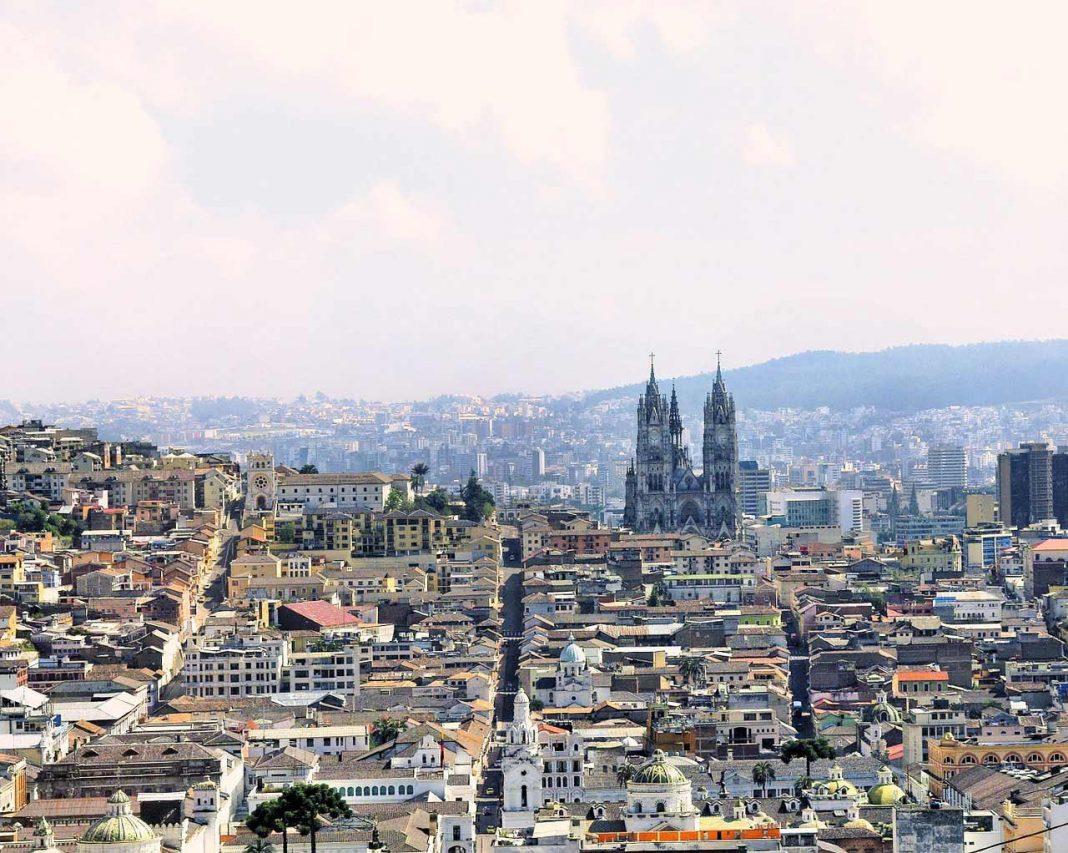 Quito city panorama, Ecuador