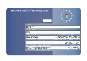 EHIC European Health Insurance Card