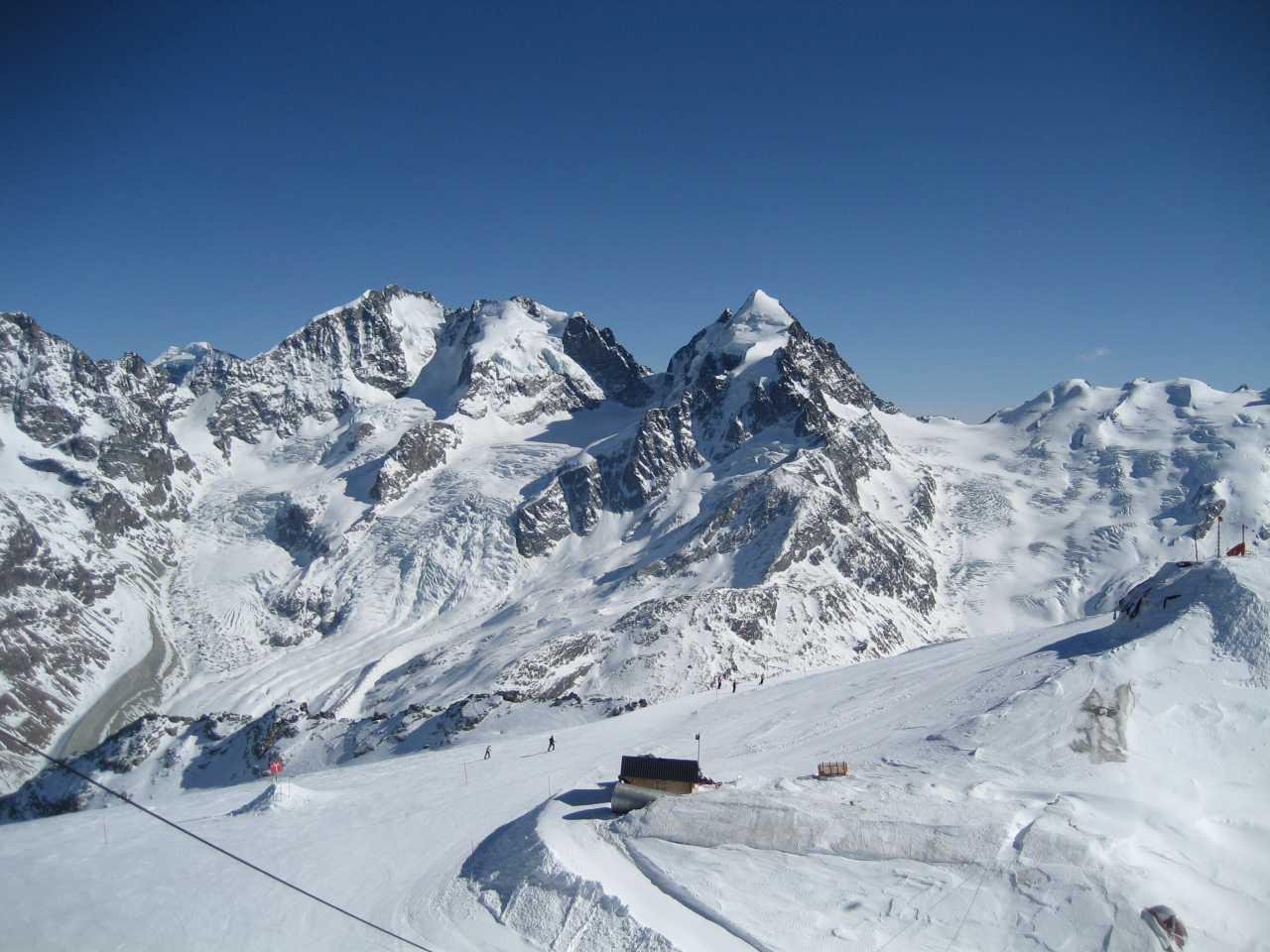 empty slopes St Moritz