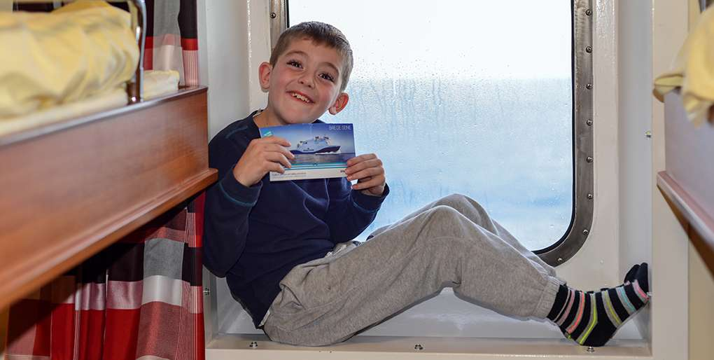 Little boy on DFDS ferry