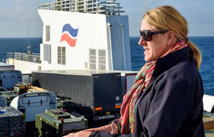 Woman on Brittany Ferries