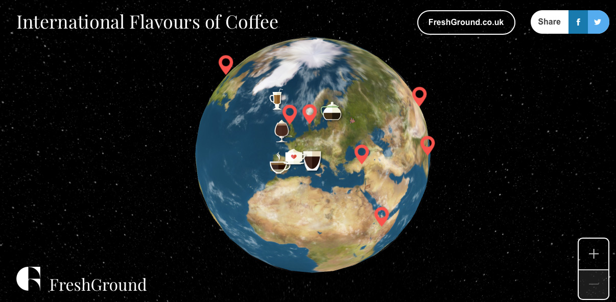 FreshGround : International Flavours of Coffee
