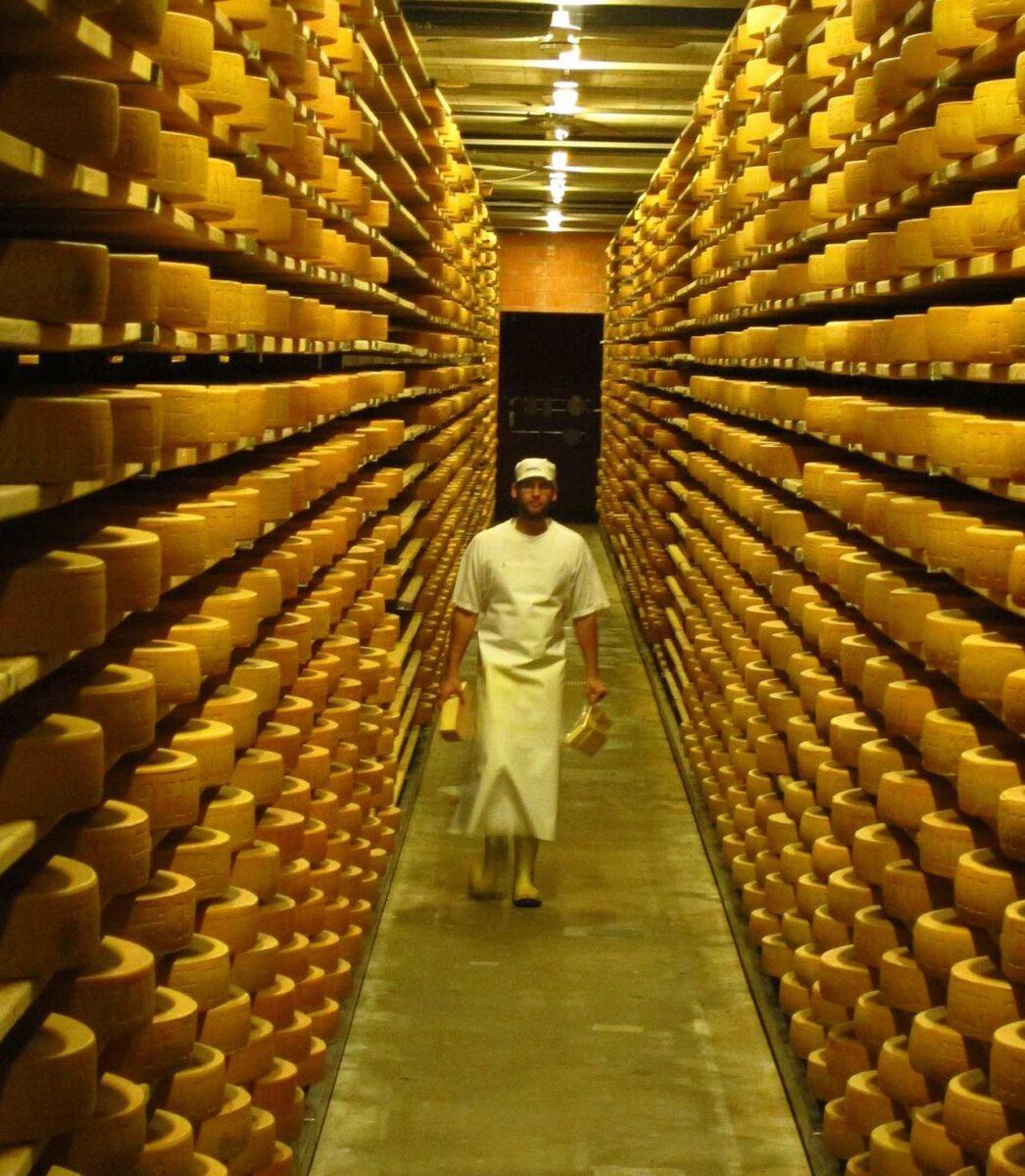Gruyere cheese factory