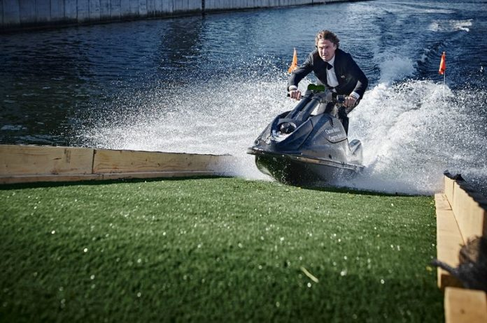 Billionaire hotelier Petter Stordalen crashes jet ski while opening his newest hotel, Clarion Hotel & Congress Malmö, Sweden
