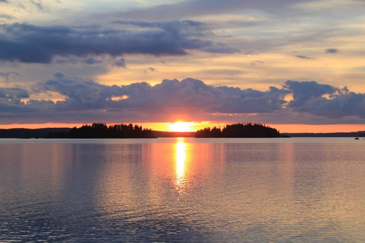 Sunset on Lake Päijänne