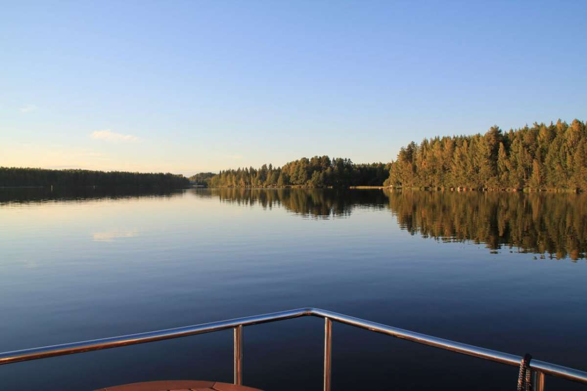 View of Lake Päijänne from a houseboat