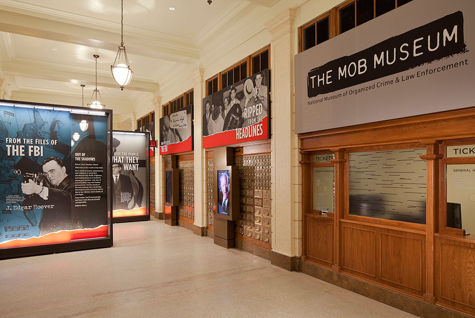 Las Vegas Mob Museum lobby
