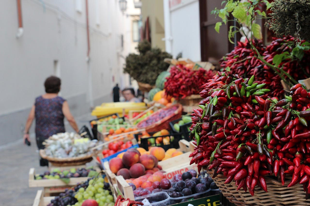 Market in Puglia, Italy