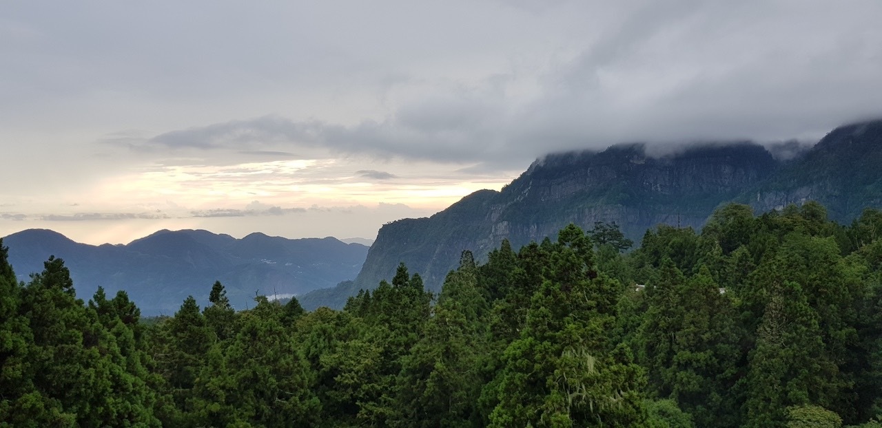 Mist clouds above the Alishan National Forests