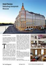 Magazine version of Hotel Baltschug Kempinski Moscow review