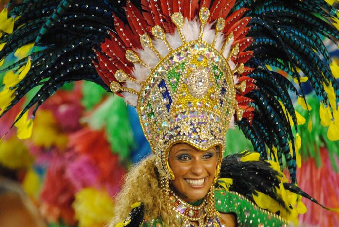 Rio Carnival - costumed dancer