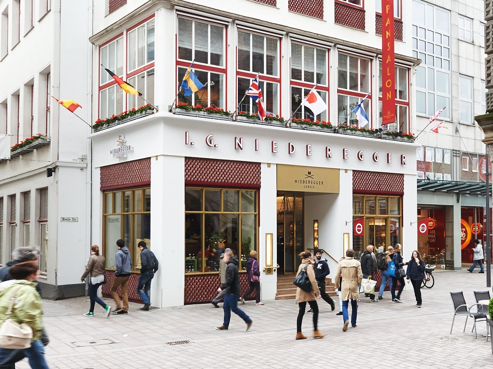 Niederegger marzipan shop and restaurant in Lubeck