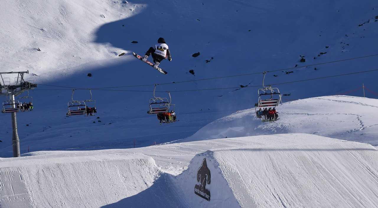 snowboarder St Moritz