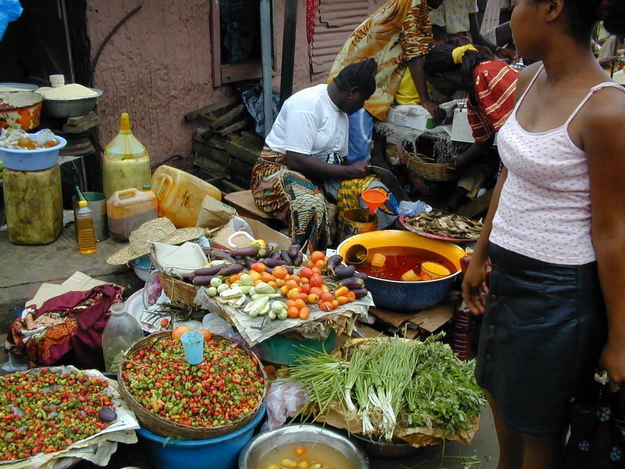 Street seller in Sierra Leone