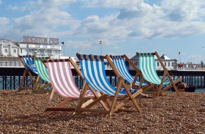 Sun loungers, Brighton